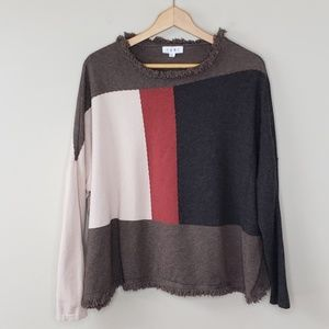 THML Colorblock Dolman Sweater